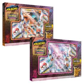 Pokémon Tcg: Box Charizard Gx + Mewtwo Gx Detetive Pikachu