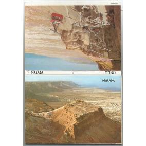 Israel Cartela Estilo Sanfona, Com 10 Cartões Postais Masada