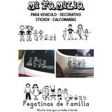 Familia Calcomanías O Sticker En Vinilo Rotulación!!!