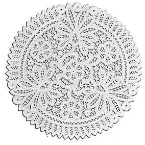 Papel Rendado Branco/doilies 33cm Para Convites 100 Pçs