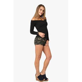 Blusa Negra Hombros Descubiertos Moda Campesina Moda Sexy Ro