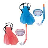 Kit Snorkel Tubo Pata Rana Antiparra 3 A 6 Años Playa Pileta