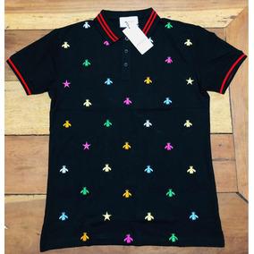 Gucci Camiseta Polo Bee Tam M Detalhes Bordados