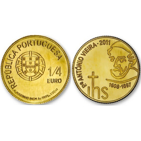 3 Moedas De Ouro 999 (24k) Maple Leaf, 1/4 Euro, 1/25 Crown