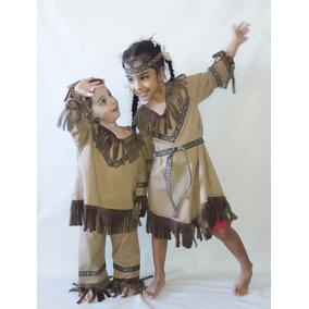 Disfraz De Indigenas India Y Indio Para Niños Y Niñas Mom12 ... baf37ece684