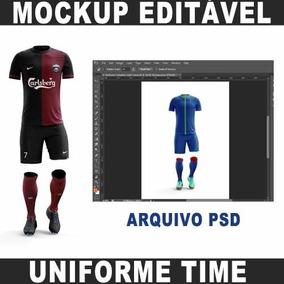 428d75ad211db Mockup Uniforme De Futebol - Programas e Software no Mercado Livre ...