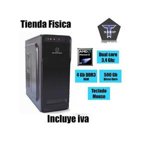 Computadora U Amd Phenom Ii X2 3,4 Ghz 4 Gb Ram 500 Gb Pc Ts