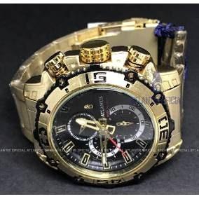 Relógio Masculino Atlantis Dourado Luxo A3270 Promoção