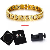 Pulseira Bracelete Feminino Ouro 18k 750 Original Magnético