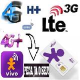 Chip Internet 3g E 4g Funcionando Uso Sem Limite