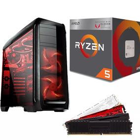 Pc Cpu Gamer Amd Ryzen 5 2400g + 8gb Ddr4 + A320m + Ssd 120g