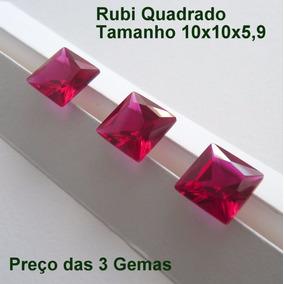 f858f3fb419 Pedra Rubi Quadrada - Pedras Preciosas no Mercado Livre Brasil