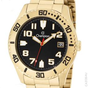 d2e346b3765 Relogio Masculino Dourado Champion Original - Relógio Champion ...