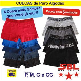 Cuecas Boxer Puro Algodão Ind. Nacional Fio 40 - Pac 5 Und.