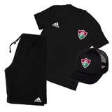 aaa4d2f5de3e5 Kit Fluminense Futebol Camiseta+boné+bermuda Esporte