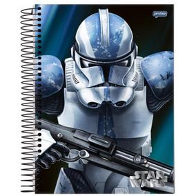 Caderno Star Wars Capitão Clone Rex 12 Matérias 240 Folhas