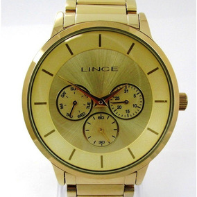 Relógio Lince Feminino Folhado Multfunção Lmgj054l C1kx