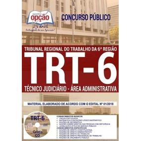 Apostila Trt Pe 6ª Região Técnico Judiciário 2018 +cd Gratis
