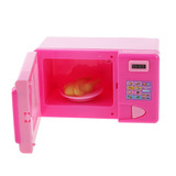 Juguetes Casa De Muñeca Mini Horno Microondas Plástico