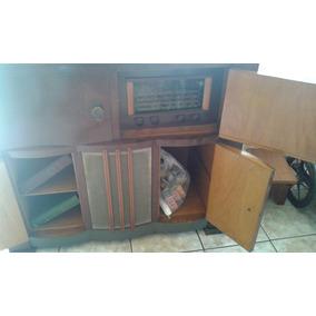 Radio Vitrola De Movel Antiga Raridade.