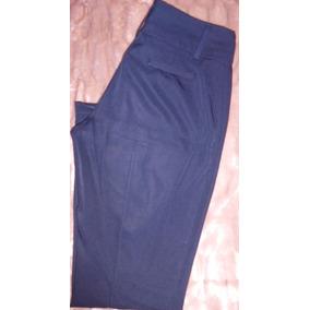 Pantalon Vestir Azul Dama 42 C  Bolsillos Ideal Uniforme 5ed5016265c9