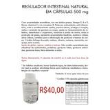Cápsulas Naturais Regular Intestino Preso