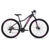 Bicicleta Oggi Aro 29 Float Sport Feminina Preta / Rosa