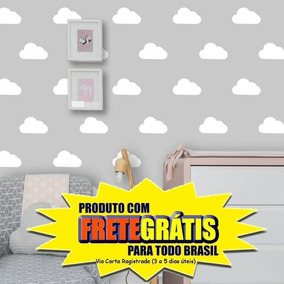 Adesivo Decorativo Infantil Nuvens Kit 100un Medida 10 X 5cm