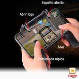 Gamepad L1 R1 Gatilho Mira Controle + Analógico Celular Kit