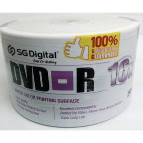 50 Dvd-r Marca Sg Digital Rotulado 16x !los Dos Caminos !!