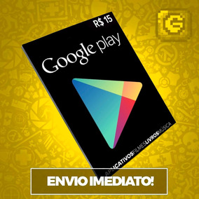 Cartão Play Store Google Gift Card R$ 15 Reais Android