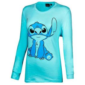 Playera Stitch Ddach0185 Color Azul Dama Pv