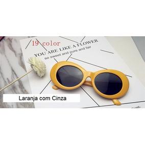 367ffaa4159be Oculos Sol Retro Oval Kurt Cobain Cores Nirvana Lentes Uv400