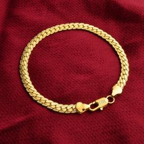 Corrente Estilo Serpente Ouro 18k Pulseira Masculina