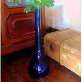Gran Florero Azul Hermoso Decorativo Para Cualquier Ambiente
