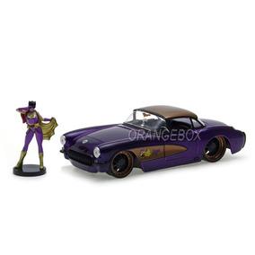 Corvette 1957 + Batgirl Dc Comics Bombshells Jada Toys 1:24