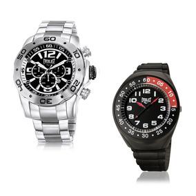 Relógio Everlast Masculino Analógico E549 Prata