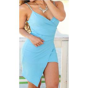Vestido Para Dama Talla S Casual Elegante Color Azul Nuevo
