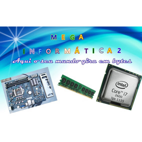 Kit Placa Mãe 1155+core I7 2600+8gb Ddr3+espelho+cooler