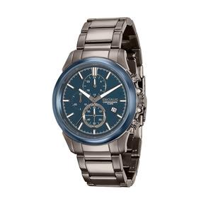 Relógio Masculino Seculus Em Aço Preto 13023gpsvqa2