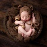 Touca De Ursinho Branca Newborn no Mercado Livre Brasil c7bbe66a844