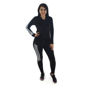 Sudadera Mujer Chamarra Deportiva Dama Negro Dwgt09238