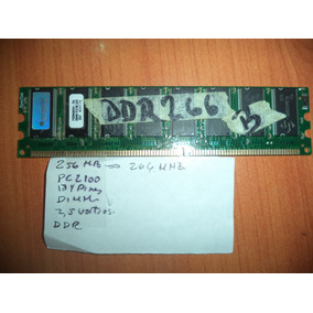Memoria Ddr 256 Mb Pc2100 184pines 2.5 Voltios