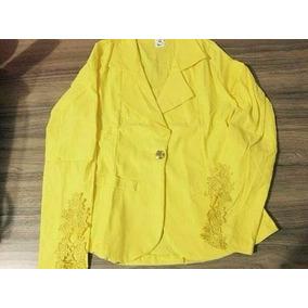e238e7d970 Blazer Bengaline Renda - Blazer para Feminino Amarelo no Mercado ...