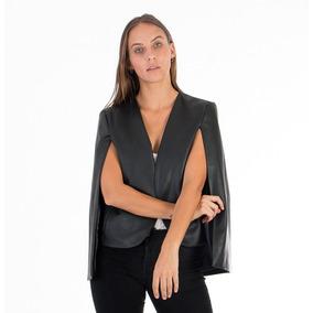 Capa Blazer Saco Mujer De Cuero Y Capa Saco Tipo Abrigo