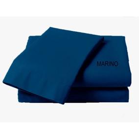 Juego De Sabanas Queen Size Bio Mattress Azul Marino
