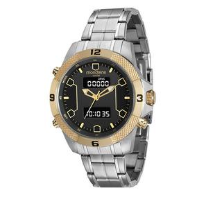 71f4f00352a Relógio Masculino Aço Analógico E Digital Prata 99103gpmvba1 por Mondaine