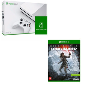 Console Xbox One S 1tb + Game Pass + Rise Of The Tomb Raider