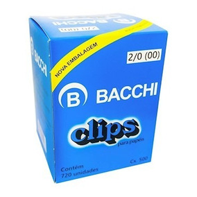 Kit C/10 Caixas De Clips Bacchi C/ 7.200 Unidades De Clips