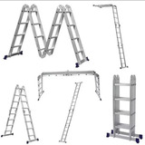 Escada Aluminio Articulada 4x3 12 Degraus Multifuncional